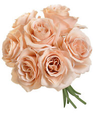 NUDE BEIGE ~  Roses Bridal Bouquet Silk Wedding Flowers Centerpieces Bridesmaids