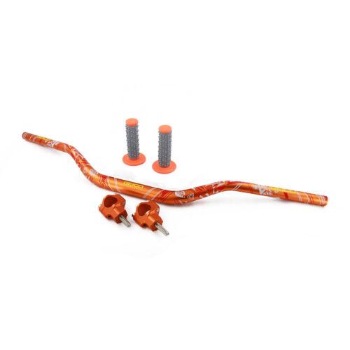 "Billet 1 1//8/"" Handlebar Handle Fat Bar Mount Clamp Grips For KTM EXC EXCF SX SXF"