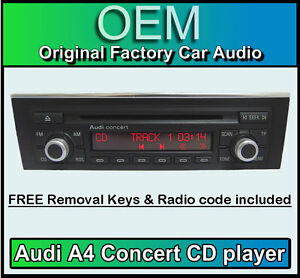 Audi A4 Cd Player Audi Concert Car Stereo Radio Code Removal