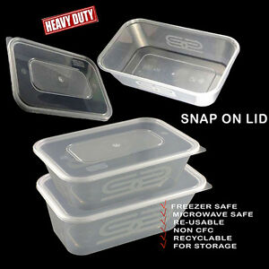 Image Is Loading Satco Plastic Containers Tubs Clear Microwave Food Safe
