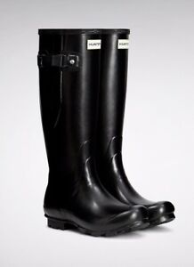 Hunter-Black-Norris-Field-Side-Adjustable-Wellingtons-wft1025rmi-uk3-uk9