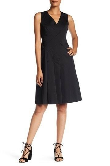 New Lafayette 148 New York Emery Sleeveless Fit & Flare Dress Size 10 MSRP
