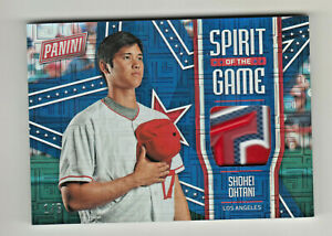 2018-Panini-Father-039-s-Day-SPIRIT-OF-GAME-ESCHER-PATCH-SHOHEI-OHTANI-RC-Rookie-1-5