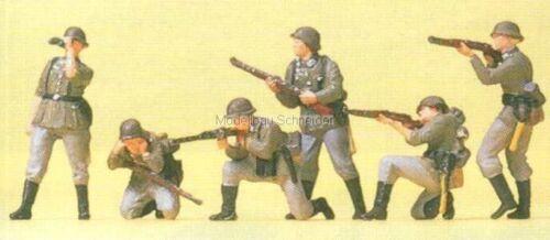 Militär Figuren H0 Preiser 16880 Infanterie im Gefecht