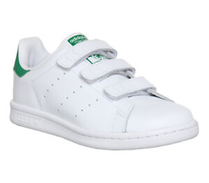 Details about Kids Adidas Stan Smith Cf Ps 10 2 White Green Kids