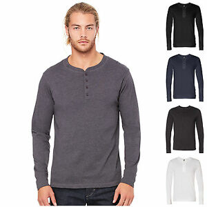 Mens casual slim fit long sleeve t shirt tee henley for Mens collared henley shirt