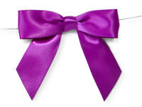 6ct. Pre-tied Royal Purple 3 Satin Gift Bows Wire Ties Ready-to-use 7/8 Ribbon