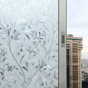 Waterproof-Clear-Privacy-Frosted-Window-Sticker-PVC-Glass-Film-Flower-Home-Decor