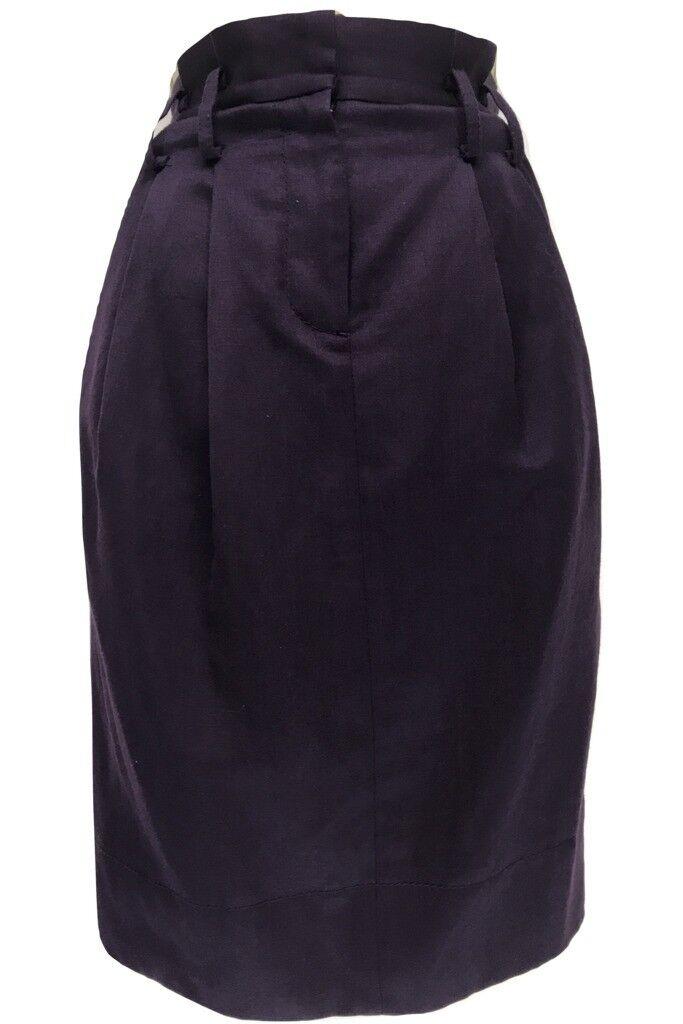 Hobbs NW3 Ladies Purple Wool Linen Blend Pencil Skirt
