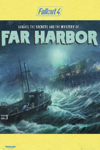 FALLOUT 4 SECRETS OF FAR HARBOR POSTER rolled and shrink wrapped 24x36