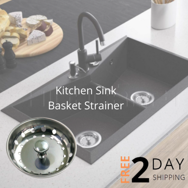 EverFlow Kitchen Sink Basket Strainer Stainless Steel and Drain Stopper