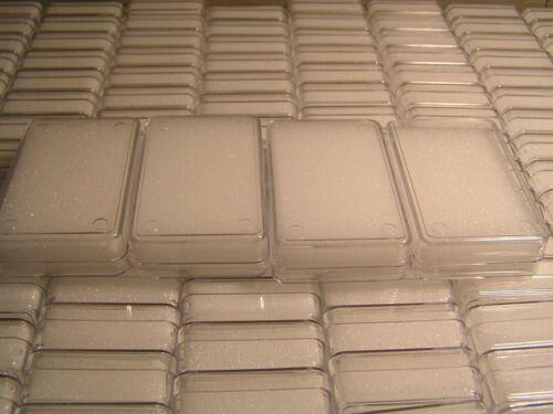 Klarsichtdosen Schaumeinlage weiss 12 m Edelsteinbox Anhängerbox 53x33x12mm