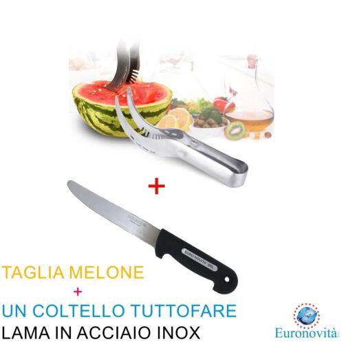 COLTELLO EURONOVITA/'® TAGLIA AFFETTA ANGURIA MELONE LAMA IN ACCIAIO INOX