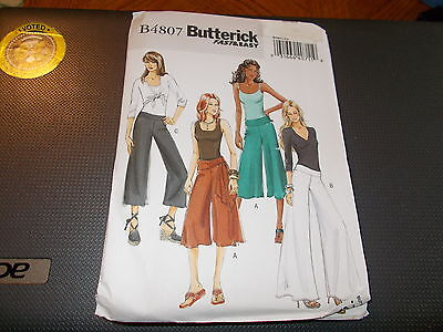 Butterick Pattern B4807 Ms EASY Pull-On Pants w/Leg Width & Length Opts & Sash