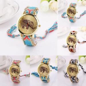 Women-Girl-Fashion-Watch-Elephant-Patterned-Analog-Bracelet-Quartz-Dial-Watches