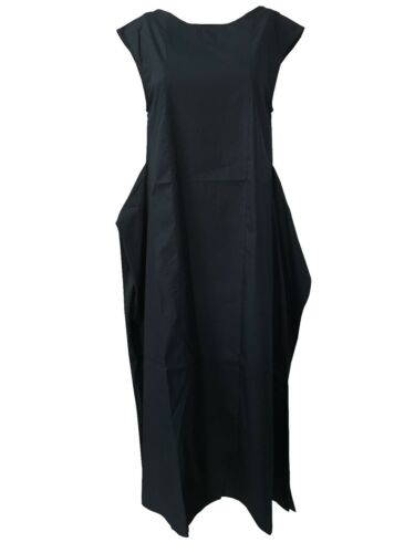 Nederigheid riem Italy Lange blauw Ha6061 met vrouwenjurk 1949 Made Mouwloos 4xrqnY4P