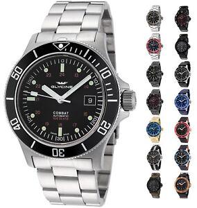 Glycine-Men-039-s-3908-Combat-Sub-Automatic-42mm-Watch-Choice-of-Color