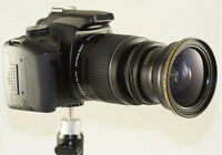 Super Fisheye Wide Angle 0.30x Lens With Adapter Ring For Sony H200 Dsch200