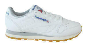 3d6553e1099 Reebok Classic Leather R12 Mens Trainers Lace Up White Leather ...