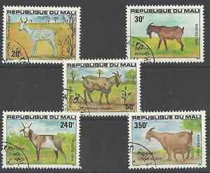 Timbres-Animaux-Chevres-Mali-482-6-o-lot-4670