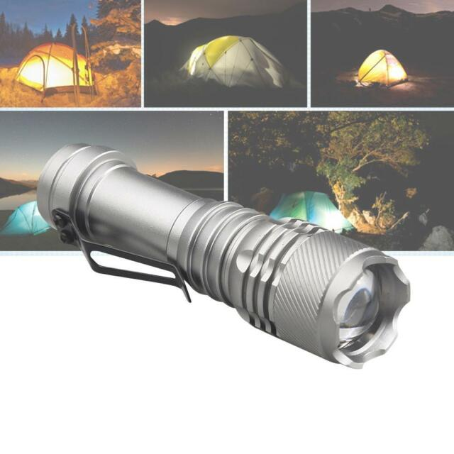 SkyWolfeye 8000LM CREE Q5 LED Flashlight Zoomble Mini Torch Light Lamp AA 14500#