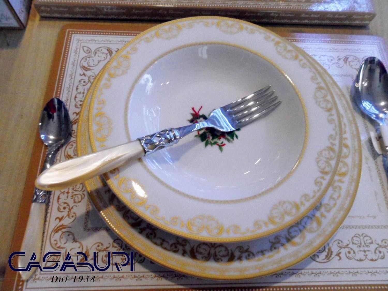 Easy Life CHRISTMAS HOLLY Servizio Piatti Porcellana 18 Pz - per 6 Persone