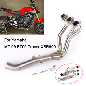 Motorcycle Exhaust Front Pipe Link Headers for Yamaha MT-09 FZ-09 2014-2019