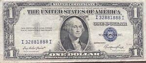 USA-1-Dollar-1935-E-Silver-Certificate-One-Banknote-Schein-Gute-Erhaltung-21937
