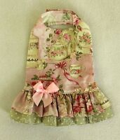 M Dropwaist Tea Rose Baby Pink And Green Dog Dress Clothes Medium Pc Dog®