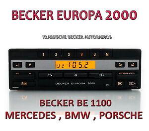 becker europa 2000 be1100 mercedes w107 w123 w124 w126. Black Bedroom Furniture Sets. Home Design Ideas