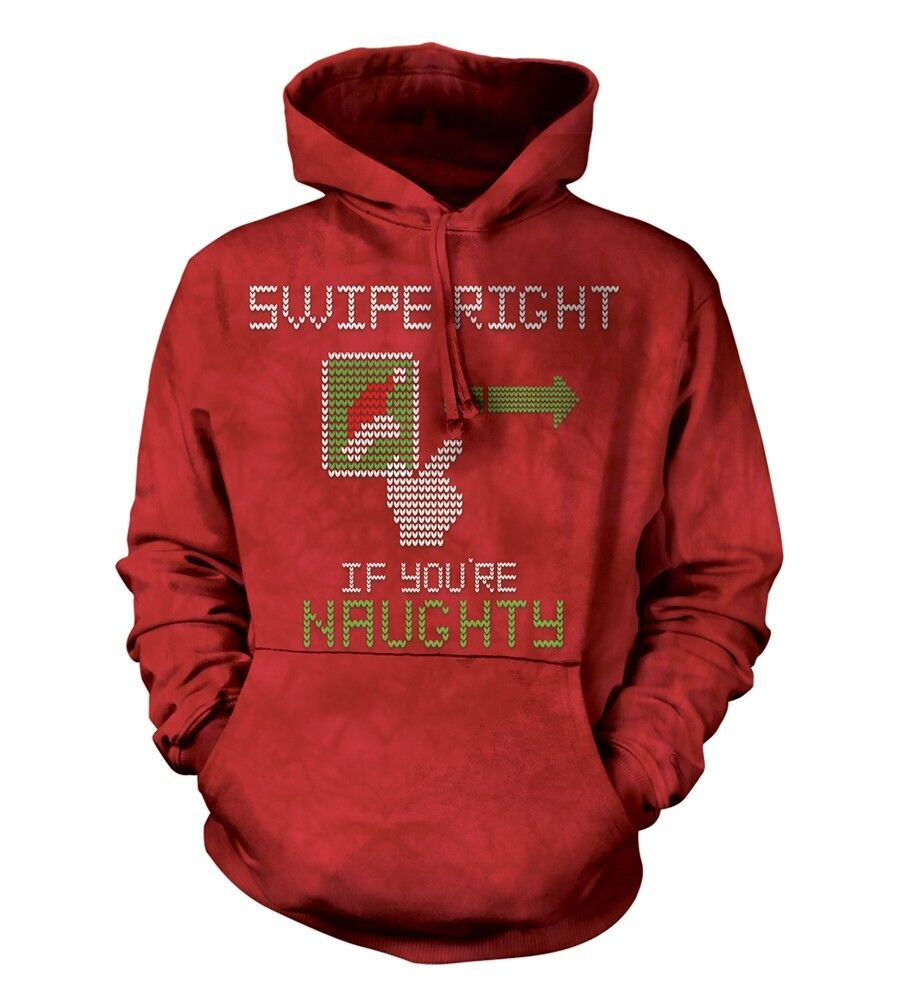 The Mountain Adult Swipe Right Naughty Christmas Hoodie