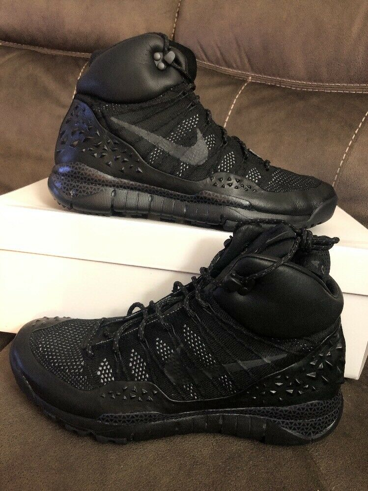 NEW Nike Air Lupinek Flyknit ACG SP NikeLab Size 10.5 Black Boots 826077 001