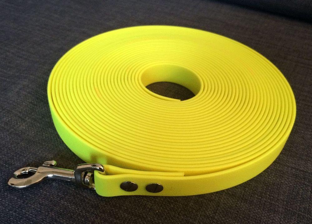 3 - 20 20 20 Meter Schleppleine Fährtenleine aus neongelben BioThane® 16mm  19mm breit  | Moderne und stilvolle Mode  d005f5