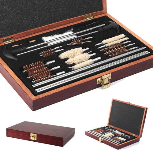 28Pcs Brosse De Nettoyage Kit Chasse Fusil Set 6mm Solid Brass Tige