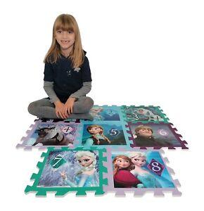Frozen Puzzle Tappeto di gomma Gioco bambini piscina cameretta 8 pezzi tappetino