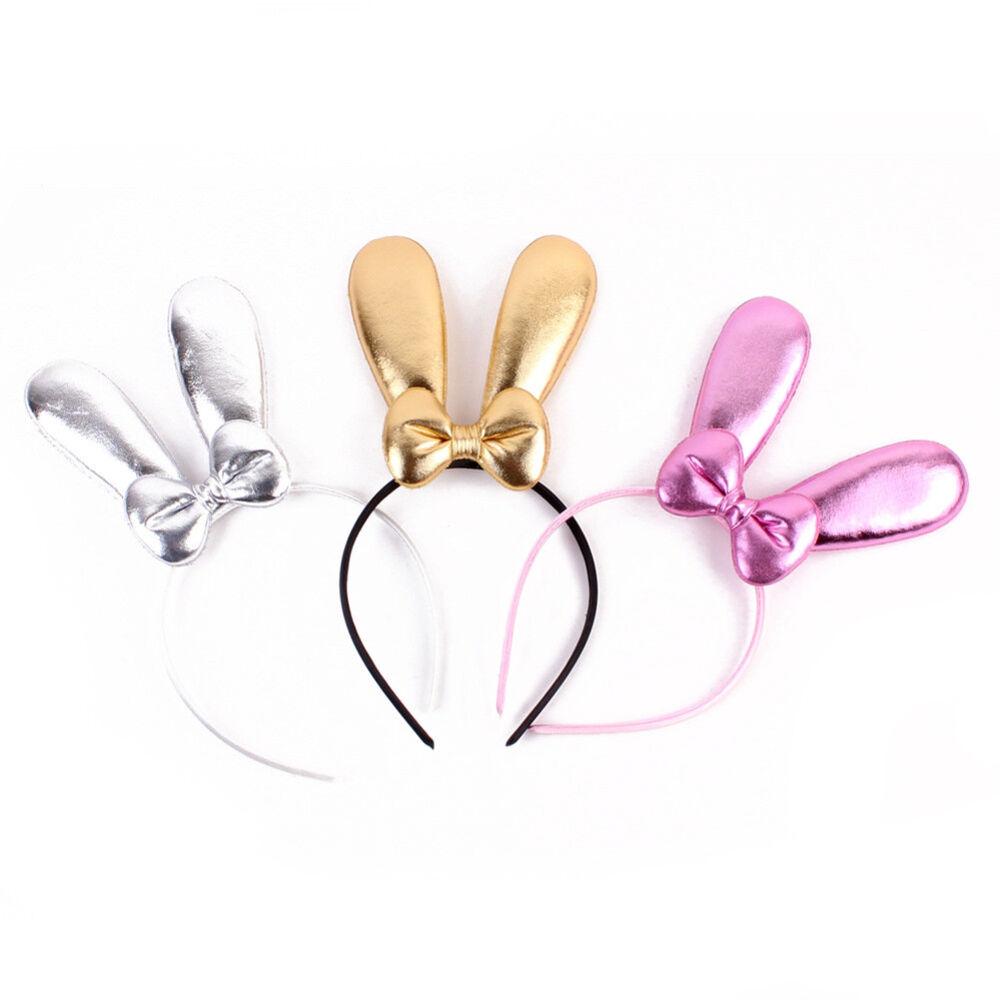 Eg _ Süß Hase Ohr Schleifenknopf Baby Mädchen Haare Reifen Haarband