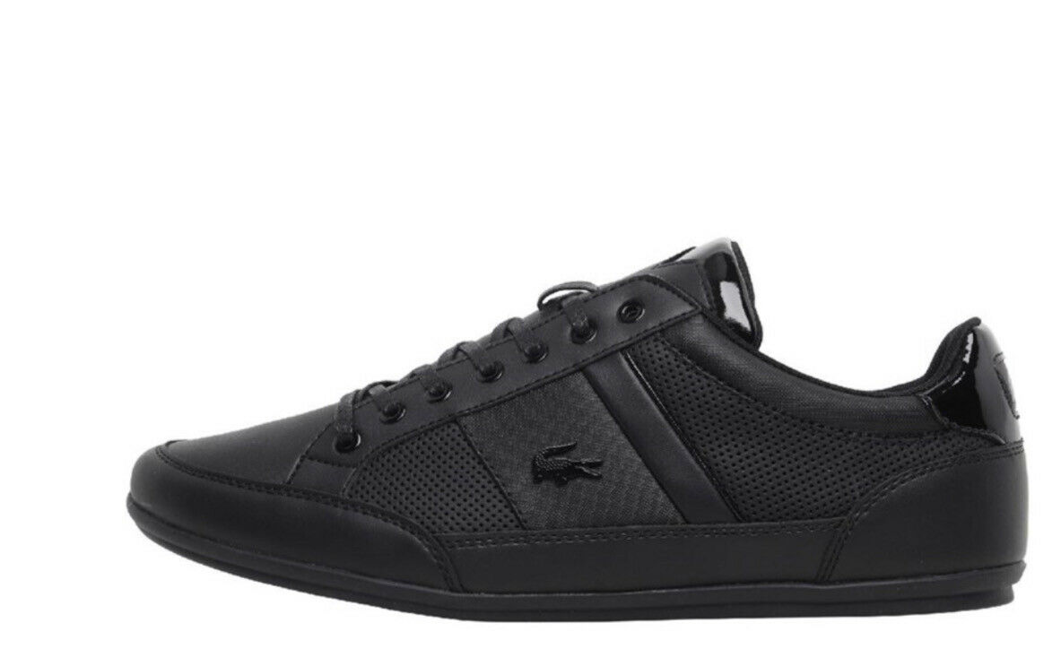 Lacoste Chaymon Lace Up Mens Trainers Sneakers Black Sizes 7 /11 new