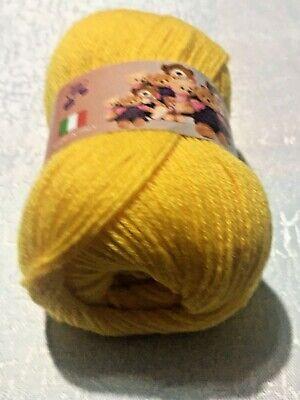 Filati ferri maglia gomitoli 85/% lana merinos Giallo
