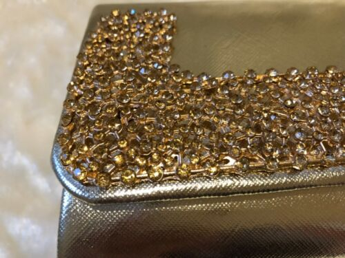 Ladies Gold great evening hand Sparkly prom Quality Party Bag Clutch Wedding a5xwanzdqA