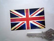Union Jack Flagge Klassisch Gealtert Auto Fahrrad Aufkleber 75mm Paar Britische