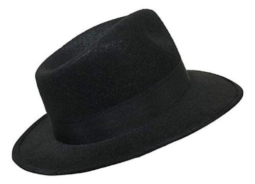 Fedora Black Economy Felt Blue Brothers 1920/'s Gangster 3 Sizes