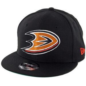 9c39b04ddf1 New Era 9Fifty Anaheim Mighty Ducks Snapback Hat (Black) Men s NHL ...
