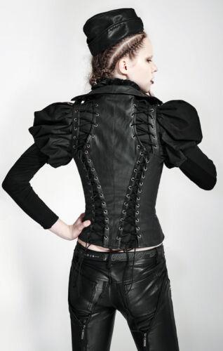 Steampunk Korsett Weste Jacke Gothic Lolita Leder Schnürung Cut Out PunkRave