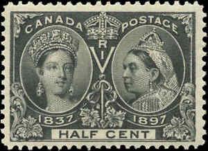 1897-Mint-H-Canada-F-VF-Scott-50-DOT-in-R-1-2c-Diamond-Jubilee-Stamp
