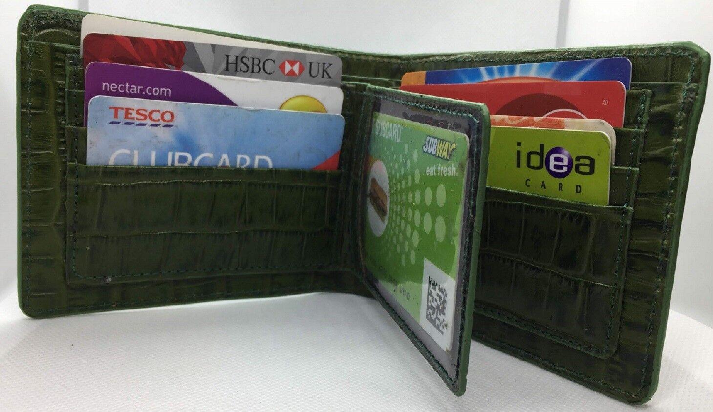 Branded Branded Branded Crocodile pattern Genuine Leather Wallet For MEN   Moderate Kosten  75cb8f