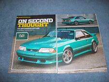 1993 Saleen Mustang Custom Article 'On Second Thought""