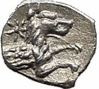 LARANDA in LYCAONIA 400BC Hercules Wolf RARE Ancient Silver Greek Coin i55611
