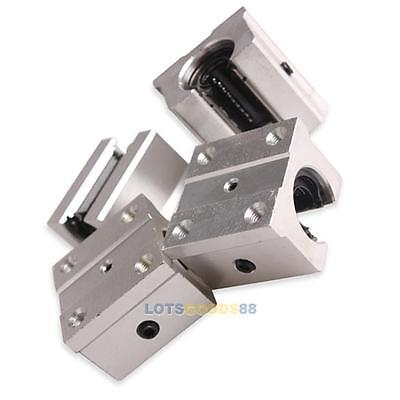 Pack of 4 SBR16UU 16mm Aluminum Open Linear Router Motion Bearing Shaft Block #L