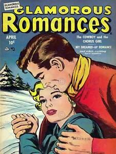 Cubierta-de-super-heroe-de-comic-glamorosa-romances-051-impresion-de-arte-Poster-Vintage-1242PY