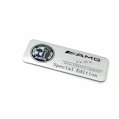Mercedes-Benz AMG Silver Emblem Badge Aluminum Sticker